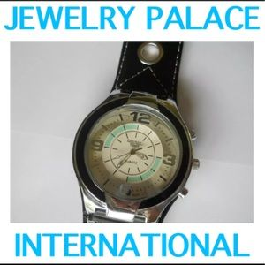 🆕Black/Brown Band Quartz Leather Men Wrist Watch
